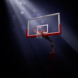 Red basketball houp in blue Royalty Free Stock Photography