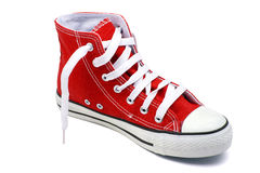 Red basketball shoe Royalty Free Stock Photos