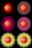 Red basketballs with backgrounds Stock Photos
