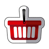Red baskets icon image Stock Photo