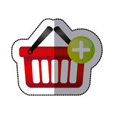 Red baskets icon image Royalty Free Stock Photography
