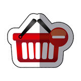 red baskets icon image Stock Photography