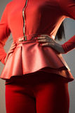 Red Basque on girl Royalty Free Stock Photo