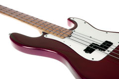 Red bass guitar Royalty Free Stock Image