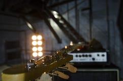 Red bass guitar close-up. Music instruments. Macro. Red bass guitar close-up. Music instruments. Macro stock photos