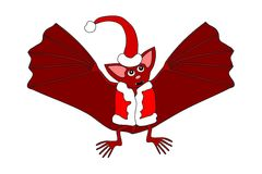 Red bat with red hat and vest royalty free stock images