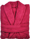 Red bathrobe Stock Photo