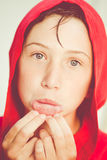 Red bathrobe Royalty Free Stock Photo