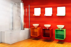 Red bathroom Royalty Free Stock Photography