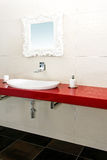 Red bathroom Stock Photography