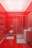 Red bathroom royalty free illustration