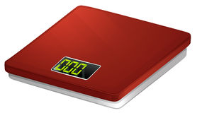 A red bathroom scale Royalty Free Stock Photography