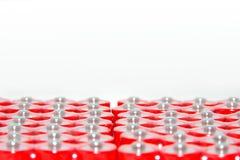 Red batteries closeup Stock Photos