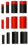 Red battery Royalty Free Stock Photo