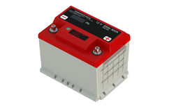Red battery car Stock Photography