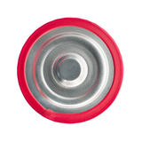 Red battery top view Stock Photography