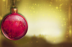 Red bauble Royalty Free Stock Images