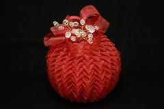 Red bauble Royalty Free Stock Photos