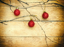 Red bauble - baubles (Christmas decoration) Royalty Free Stock Photography