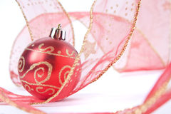 Red Bauble still life Royalty Free Stock Photography