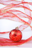 Red Bauble still life Stock Images
