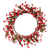 Red Bauble Wreath Royalty Free Stock Photo