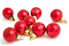 Red Baubles Royalty Free Stock Images