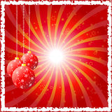 Red baubles Royalty Free Stock Photo