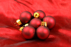Red baubles Stock Photos