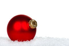 Red baubles Stock Photography