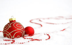 Red baubles Stock Image