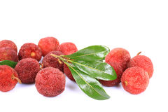 Red bayberry,Arbutus. On the white background Royalty Free Stock Photography