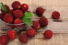 Red bayberry,Arbutus Stock Photos