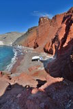 Red beach, Akrotiri. Santorini, Cyclades islands. Greece Royalty Free Stock Photos