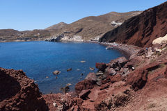 Red Beach in Akrotiri. Santorini. Greece. Royalty Free Stock Images