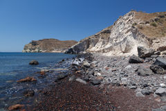 Red Beach in Akrotiri. Santorini. Greece. Royalty Free Stock Image