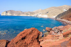 The Red Beach, Akrotiri, Santorini Stock Photos