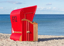 Red beach chair Royalty Free Stock Photography