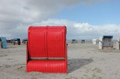 Free Red Beach Chair Royalty Free Stock Photo - 27459485