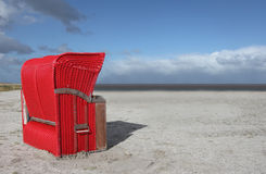 Red Beach Chair Royalty Free Stock Photos
