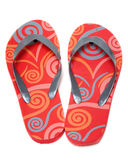 Red beach footwear Stock Image