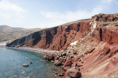 Red Beach. The Red beach of Greece island Royalty Free Stock Photo