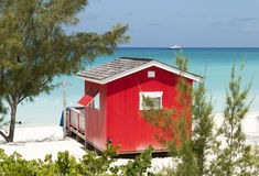 Red Beach House Royalty Free Stock Photography
