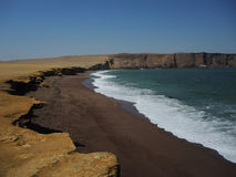 Red Beach, Ica Region, Peru. Stock Photos
