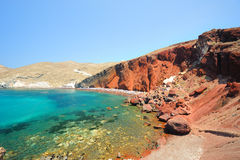 Red beach near Akrotiri on Santorini Royalty Free Stock Photo