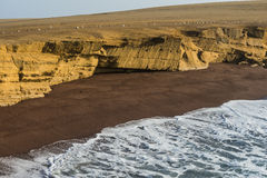 Red beach in Paracas National Reserve, Peru Royalty Free Stock Photography