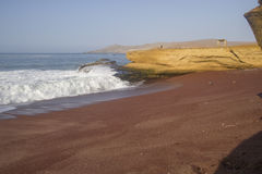 Red beach, Paracas, Peru. Stock Photos