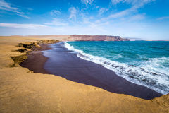 Red beach at Paracas in Peru Royalty Free Stock Photography
