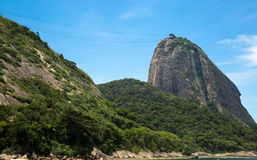 Red Beach (Praia Vermelha) with view of Sugarloaf Mountain in Rio de Janeiro, Brazil Stock Photography