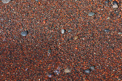Red Beach sand texture, Santorini Royalty Free Stock Images